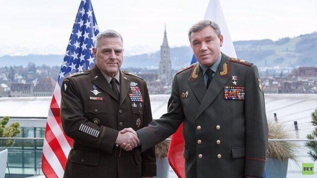 ملاقات روسای ستاد ارتش روسیه و آمریکا در سوئیس درباره مسائل استراتژیک